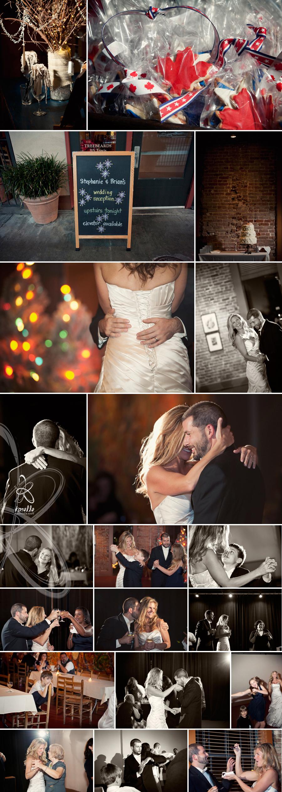 Stephanie and Brian's wedding day, reception