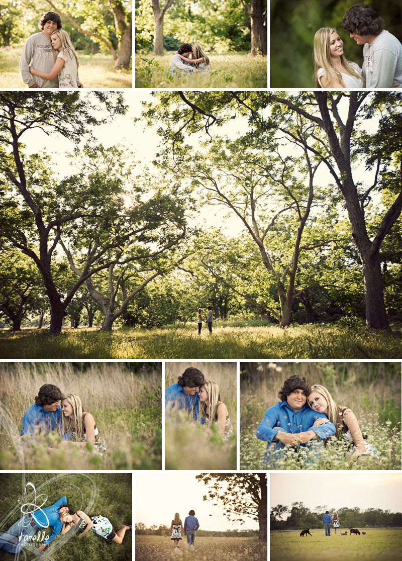 An engagement session for Melanie and TJ before their wedding in Houston