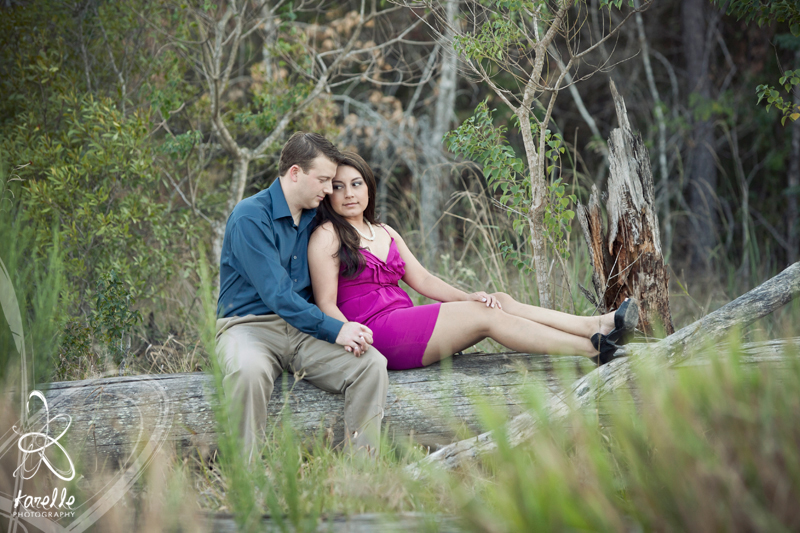 An engagement session in The Woodlands, Monica and Troy
