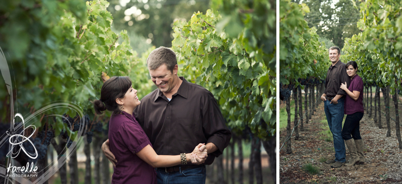 20 year anniversary in Napa Valley, photo session