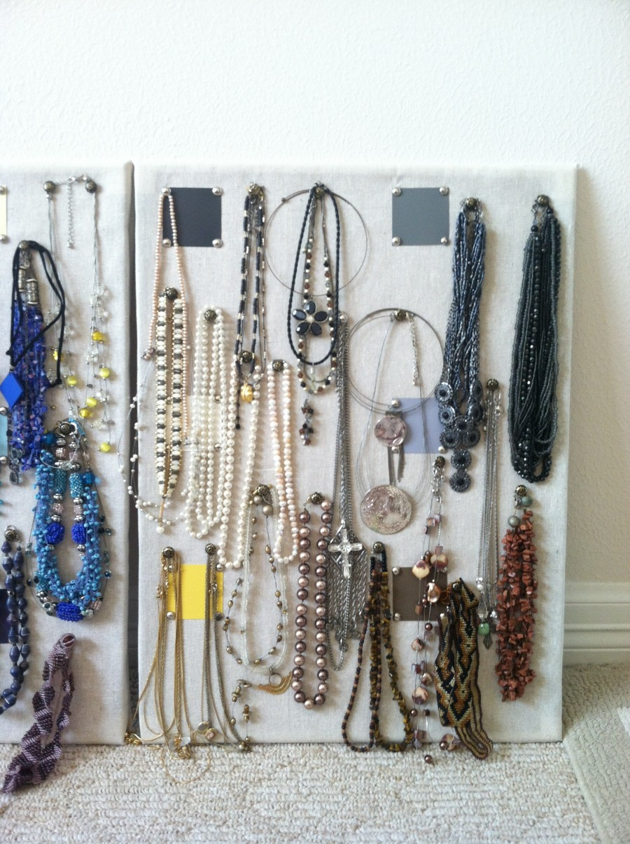 A jewelry board holder created by Karelle Photography